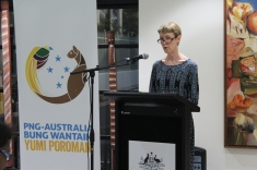 Deputy Australian High Commissioner Ms Bronte Moules giving the Opening Speech
